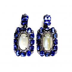 Etho Maria 18k Gold and Tanzantite Earrings