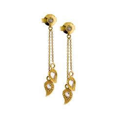 Coomi 20k Gold Vitality Paisley Dangle Earrings