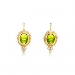 Temple St. Clair 18k Classic Peridot Earrings