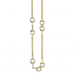 Gucci Horsebit 18k Gold Necklace
