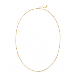 """Temple St Clair 18K Extra Small Oval Chain 32"""""""