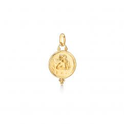 Temple St. Clair 18k Gold 16mm Angel Pendant