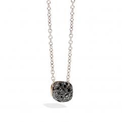 Pomellato Nudo 18k Gold and Black Diamond Pendant