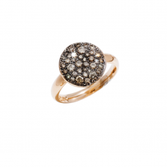Pomellato 18k Rose Gold and Brown Diamond Ring