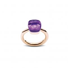 Pomellato Nudo 18k Gold and Amethyst Ring
