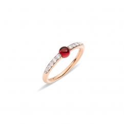 Pomellato M'ama Non M'ama 18k Gold and Garnet Ring