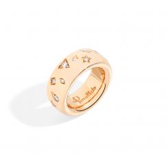 Pomellato 18k Rose Gold and Diamond Iconica Ring