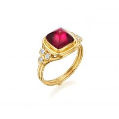 Temple St. Clair 18k Gold Piccolo Rubelite Classic Ring