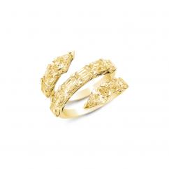 Etho Maria 18k Yellow Gold and Diamond Ring