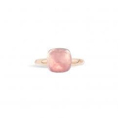 Pomellato Nudo 18k Gold and Rose Quartz Ring