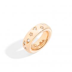 Pomellato Iconica 18k Rose Gold and Diamond Medium Ring