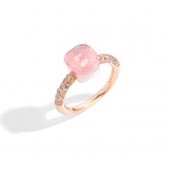 Pomellato Nudo Petite 18k Gold and Rose Quartz Ring