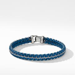 DY Woven Box Chain Bracelet in Navy