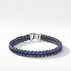 DY Woven Box Chain Bracelet in Grey