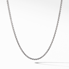 Small Box Chain Necklace, 2.7mm