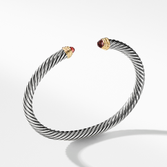 David Yurman Cable Classic Collection® Bracelet with Garnet with 14K Yellow Gold