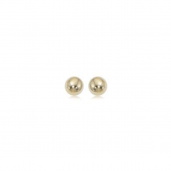 Classic 14k Yellow Gold 5mm Ball Stud Earrings