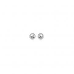 Classic 14k White Gold 4mm Ball Stud Earrings