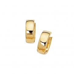 Classic 14k Yellow Gold Huggie Earrings