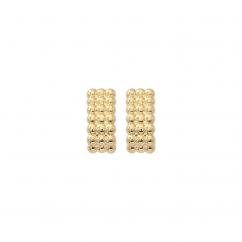 Classic 14k Gold Beaded Earrings