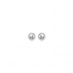Classic 14k White Gold 5mm Ball Stud Earrings
