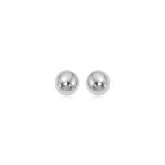 Classic 14k White Gold 6mm Ball Stud Earrings