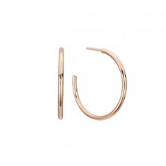 14k Rose Gold 20mm Hoop Earrings