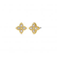 Roberto Coin Princess Flower Diamond Earrings
