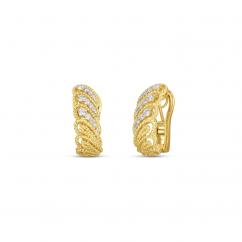 Roberto Coin Byzantine Barocco 18k Gold Earrings