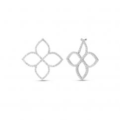 Robert Coin Princess Flower 18k Gold and Diamond Earrings