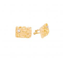 Vintage 14k Gold Nugget Cufflinks