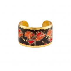 Artisan Evocateur Art Deco Poppies Cuff Bracelet