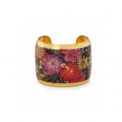 Evocateur 22k Gold Zinnias Cuff Bracelet