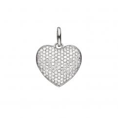 Hamilton Sterling Silver and Diamond Heart Charm