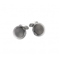 18k White Gold and Anthracite Cufflinks