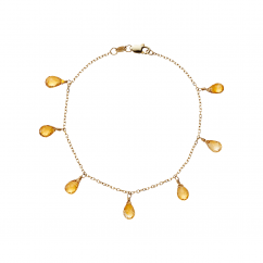 Calypso 14k Gold Citrine Drop Bracelet