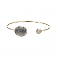 Facets 14k Gold and Labrodorite Bracelet