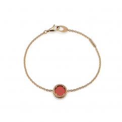 1970's 18k Gold and Carnelian Bracelet