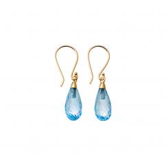 Calypso 14k Blue Topaz Drop Earrings