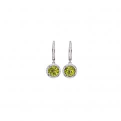 Lisette 18k Gold Peridot and Diamond Earrings