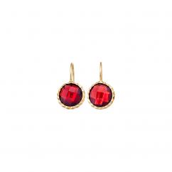 Facets 14k Gold and Garnet Earrings