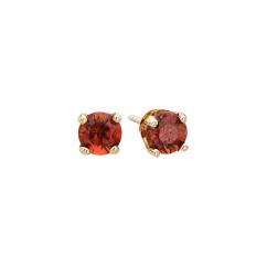 14k 3mm Garnet Birthstone January Stud Earrings