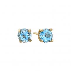 14k 5mm Zircon Birthstone December Stud Earrings