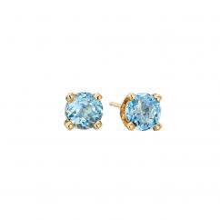 14k 3mm Zircon Birthstone December Stud Earrings