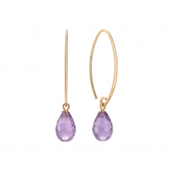 Calypso 14k Gold and Amethyst Threader Earrings
