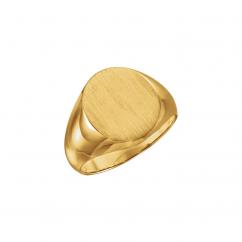14k Yellow Gold Mens Signet Ring