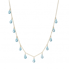 Calypso 14k Gold and Blue Topaz Necklace