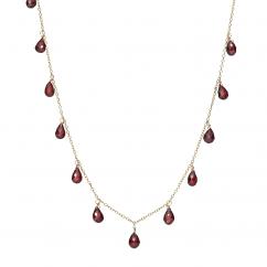 Calypso 14k Gold and Garnet Necklace