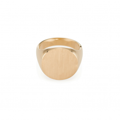 14k Yellow Gold 18mm SIgnet Ring
