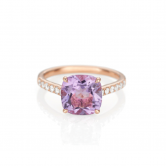 18k Rose Gold and Amethyst Ring